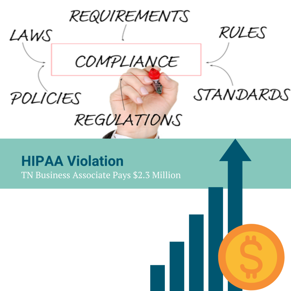 TN Business Associate Pays $2.3 Million in HIPAA Violations